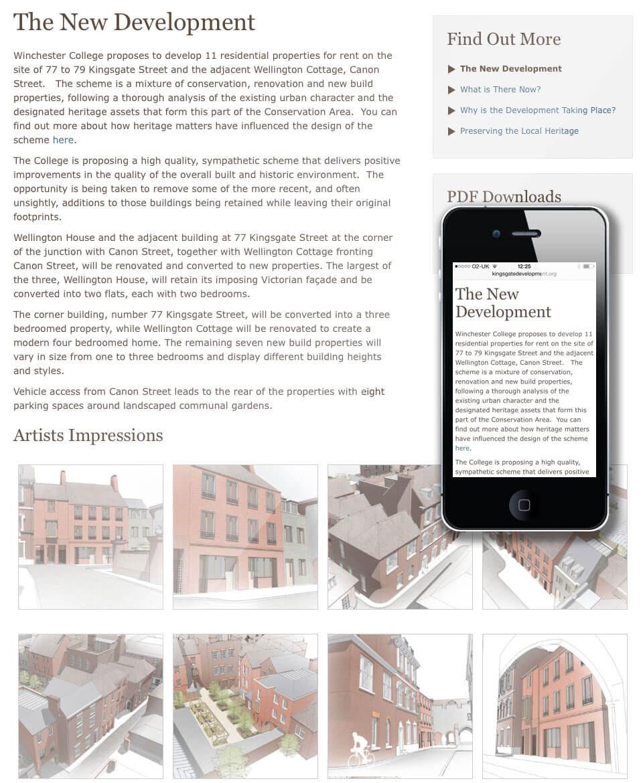 Kingsgate Street Development Website Design