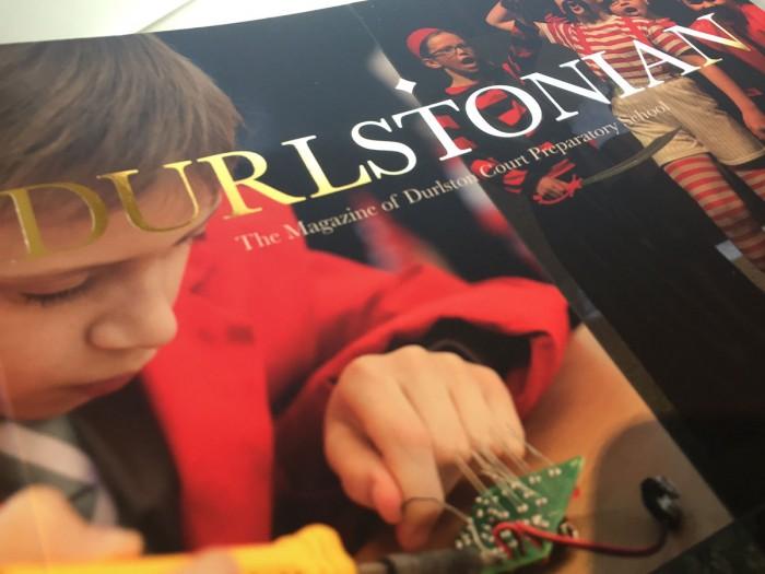 Durlstonian Annual Magazine Design