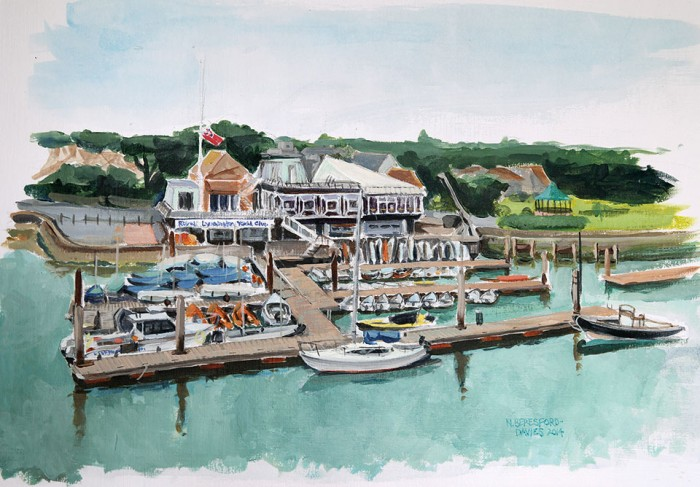 Acrylic Painting - Royal Lymington Yacht Club, 2017