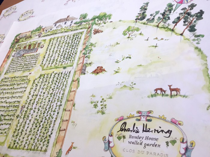 Charlie Herring Wine Bottle Wrap Illustration