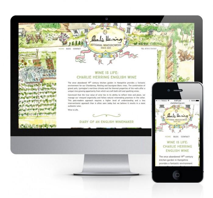 Charlie Herring Wine Website Design