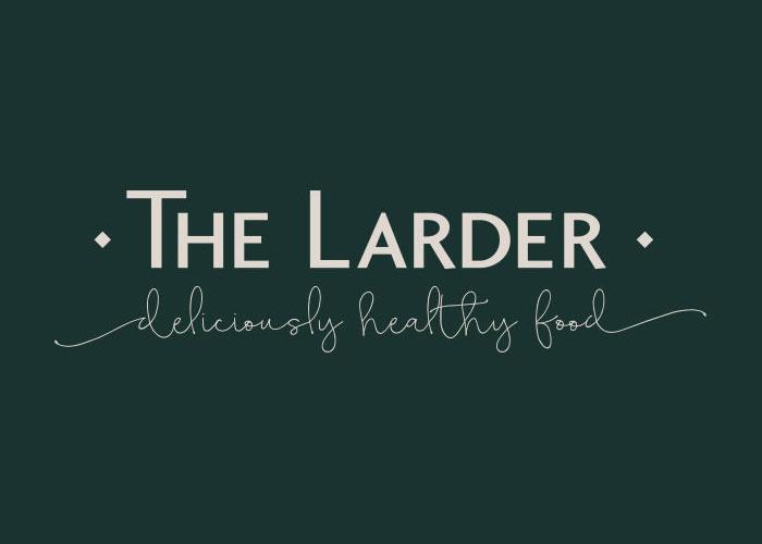 The Larder Logo Design, Reversed