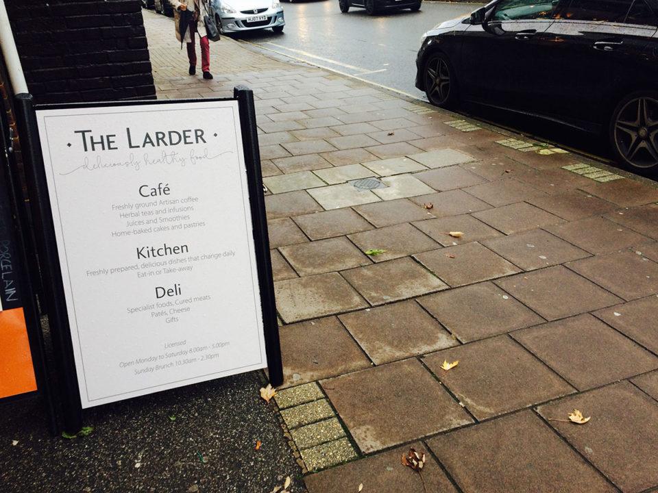 The Larder Sign Design