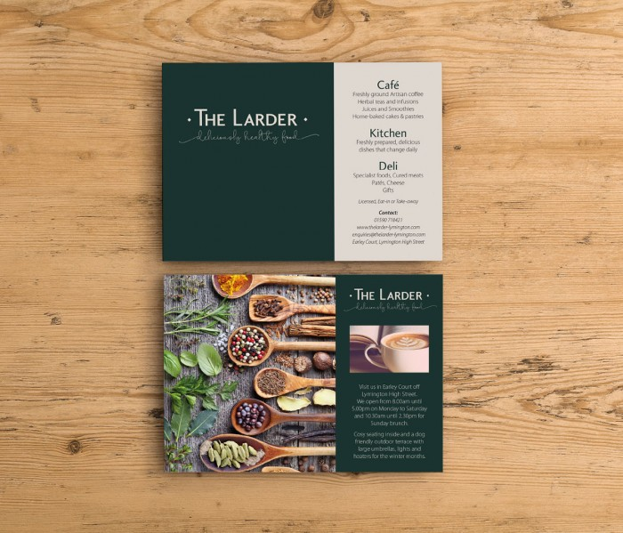 The Larder Lymington Promotional Postcards