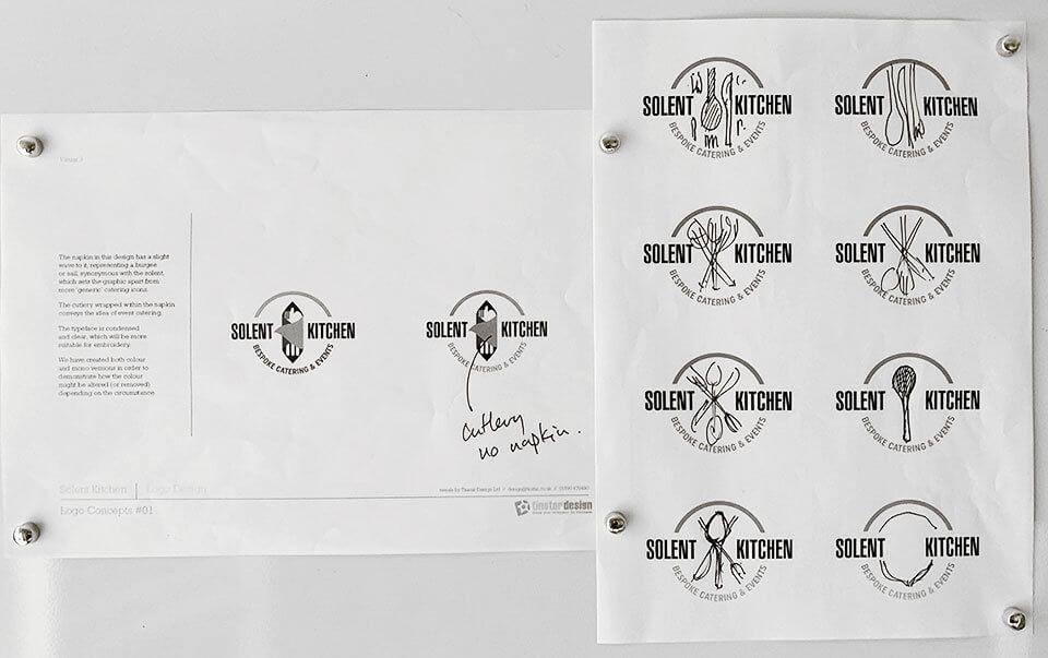 Solent Kitchen logo variations