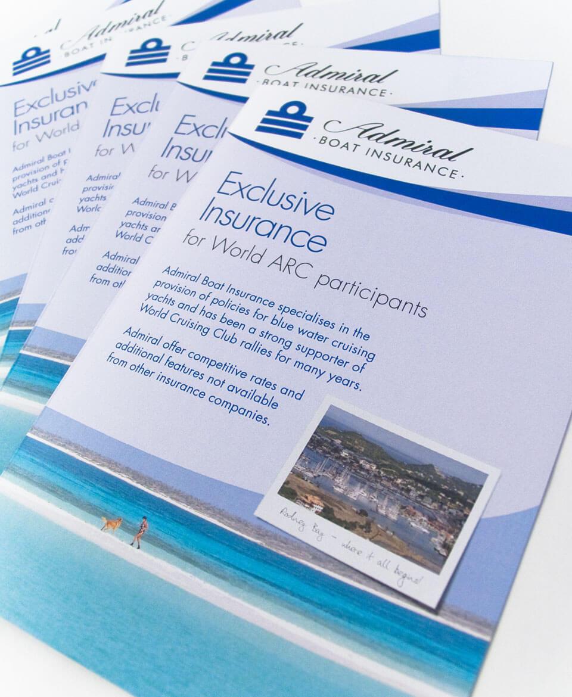 Adrmial Yacht Insurance Leaflet Design