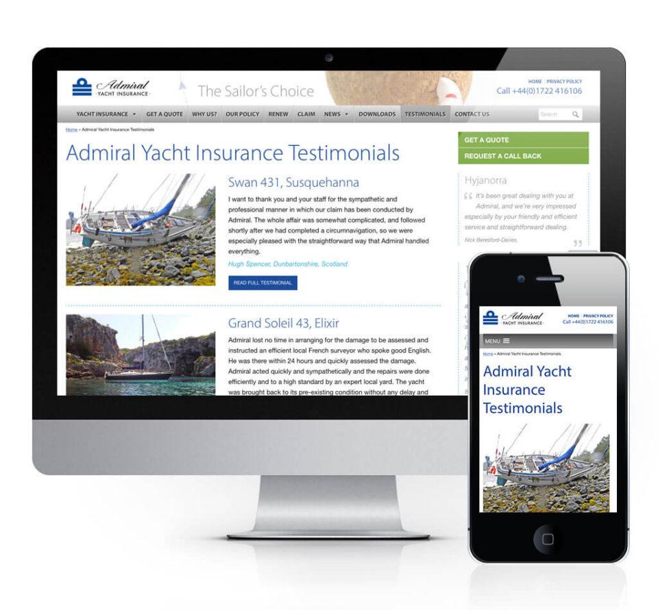 Adrmial Yacht Insurance Testimonials