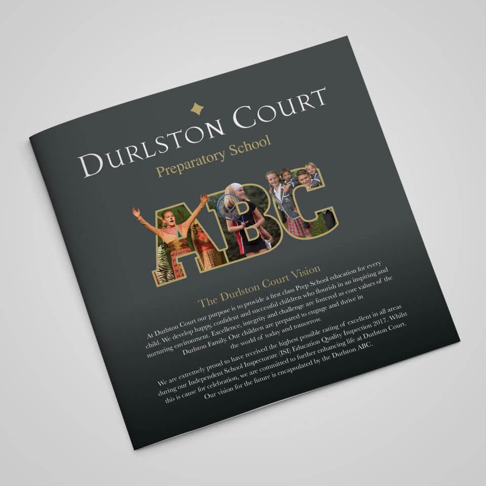 Durlston Court School ABC Brochure Cover Design