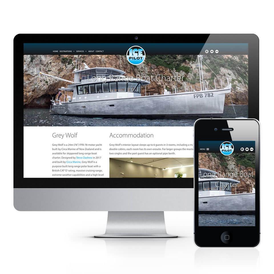 Grey Wolf Ice Pilot Web Design