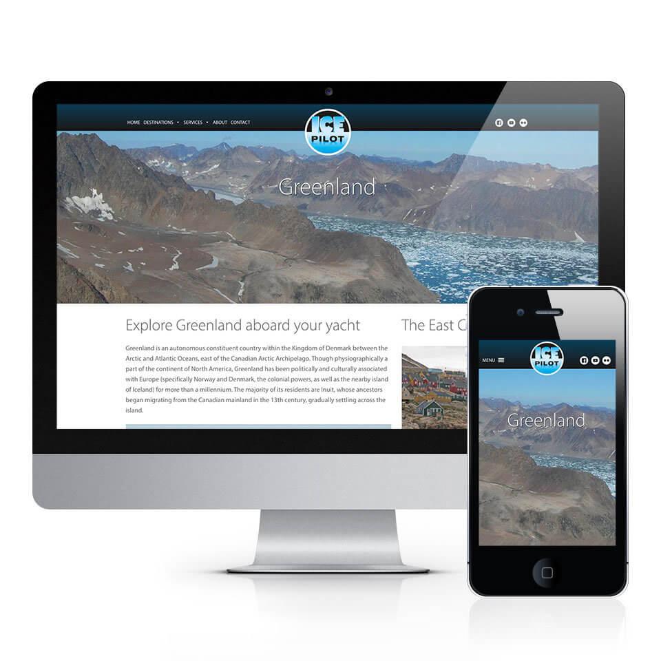 Ice Pilot Greenland Tourism Website Design