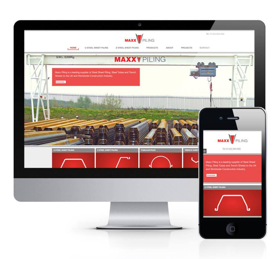 Maxx Piling Steel Sheet Piling Website Design