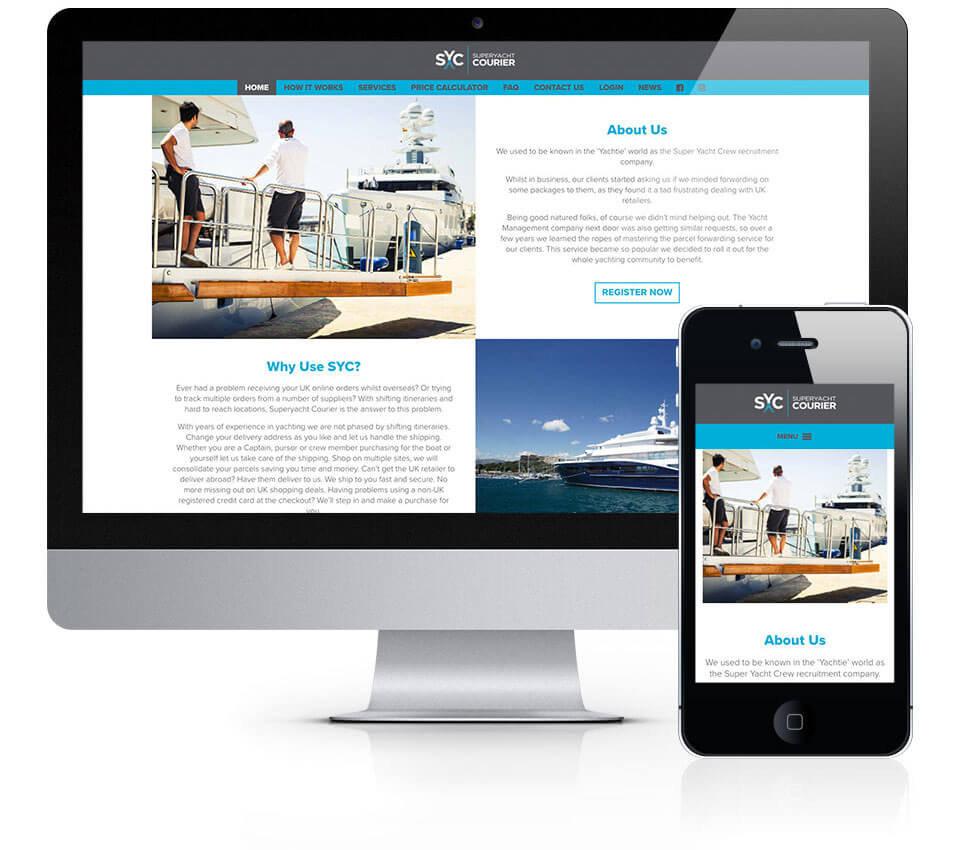Superyacht Courier Website Design