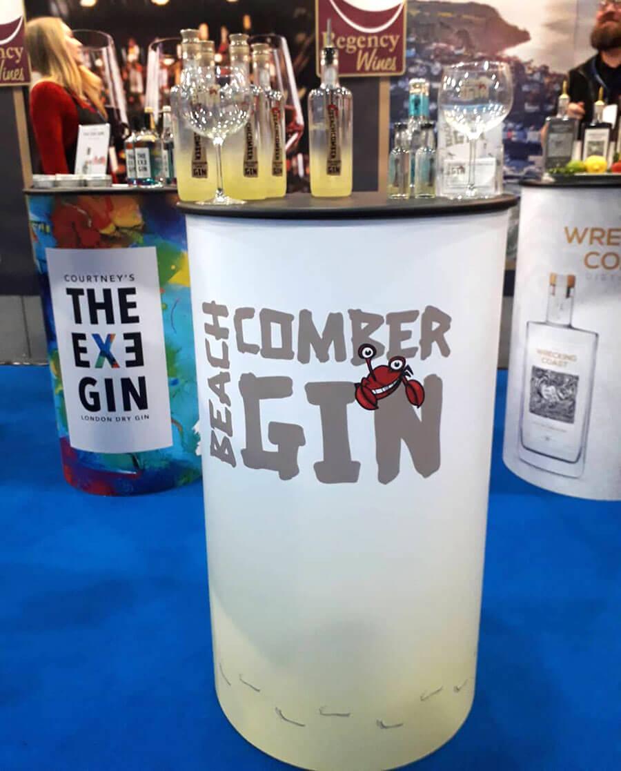 Beachcomber Gin Exhibition Podium Graphics
