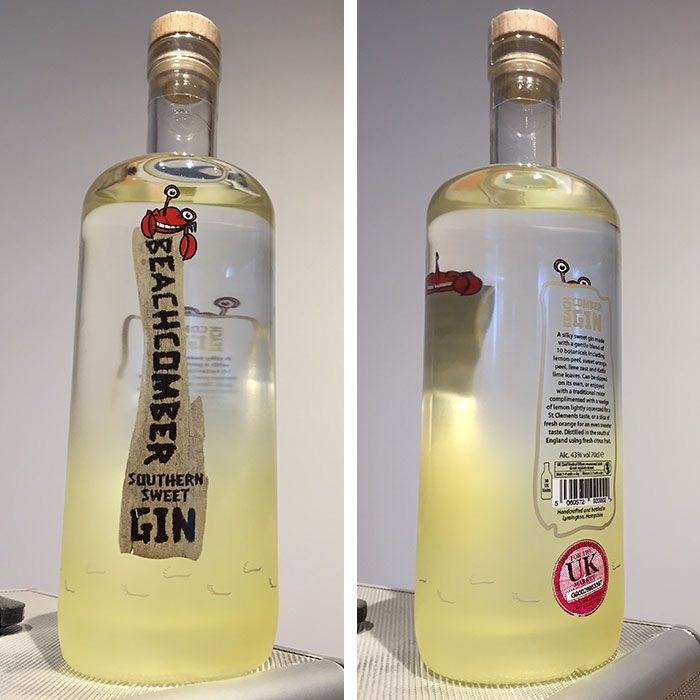 Beachcomber Gin Bottle Design