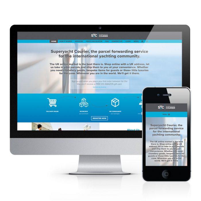 Super Yacht Courier Website Design