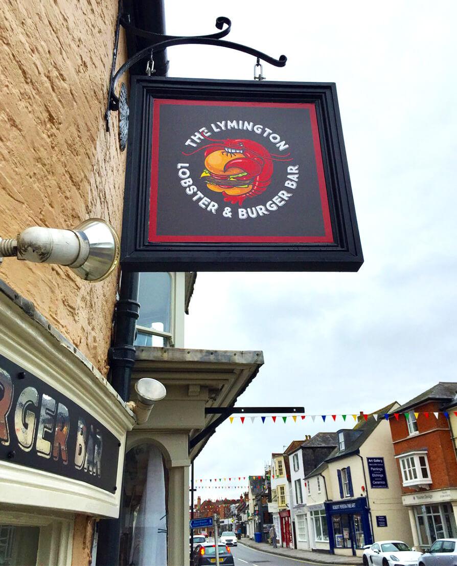 The Lymington Lobster & Burger Bar Sign