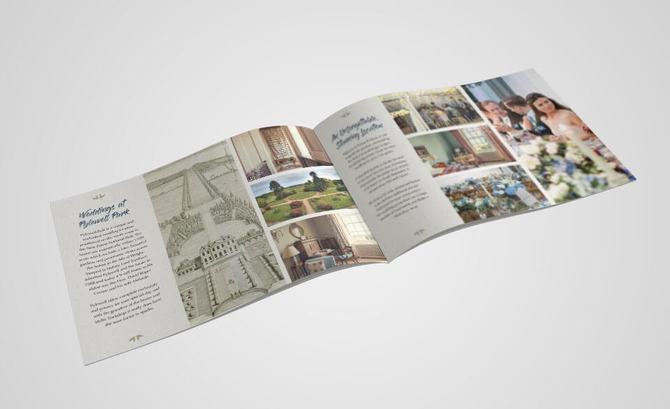 Pylewell Park Weddings Brochure Spread