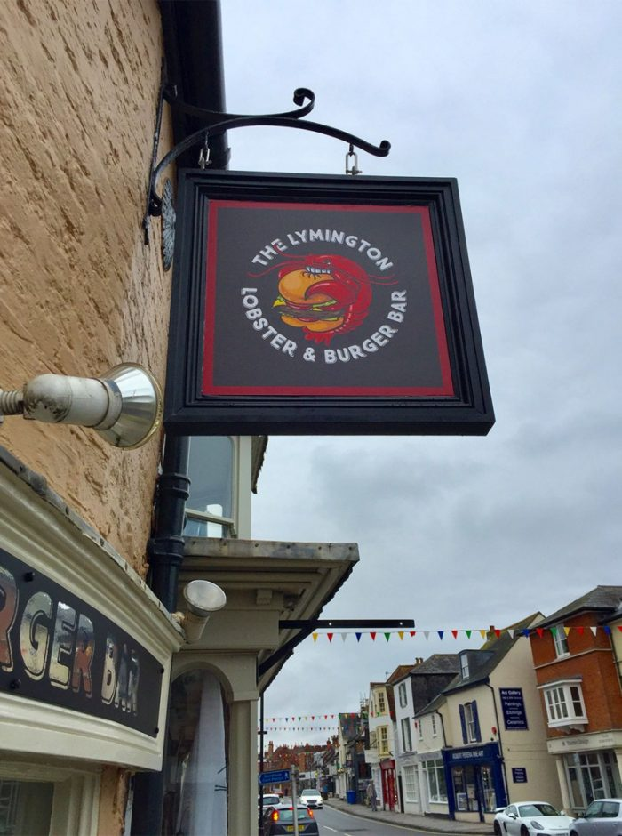 The Lymington Lobster & Burger Bar Logo Design
