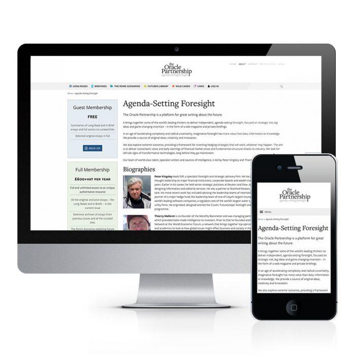 The Oracle Partnership Website Design