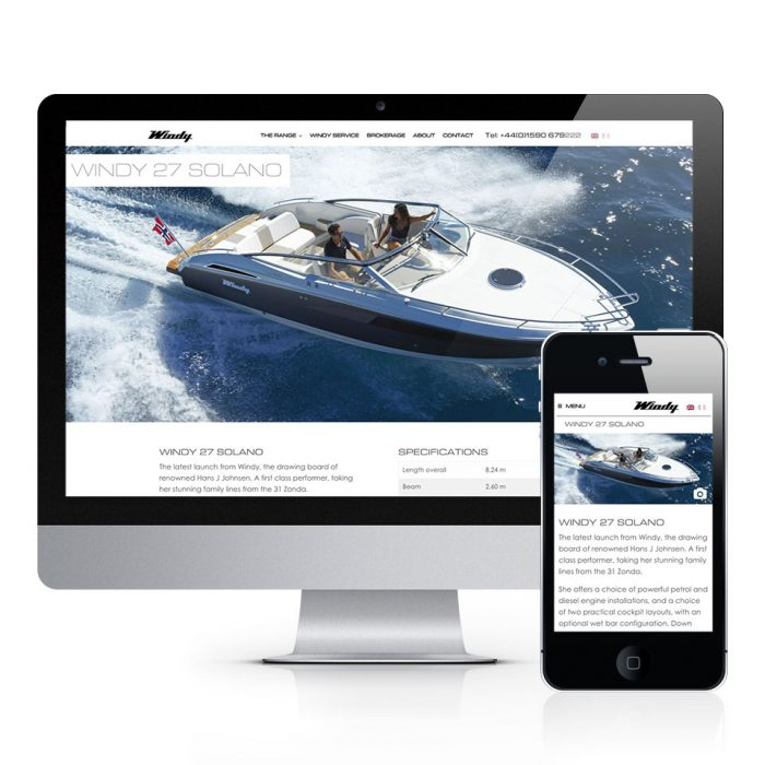 Windy Boats Website Design