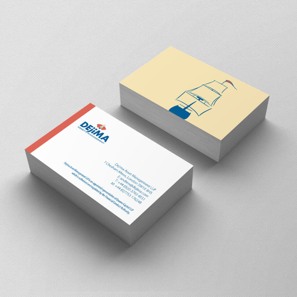 Dejima Asset Management business card design