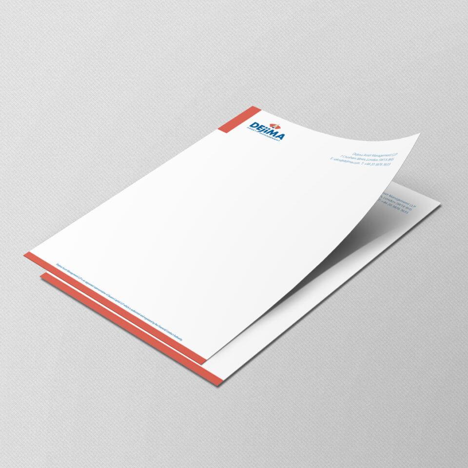 Dejima Asset Management letterhead design