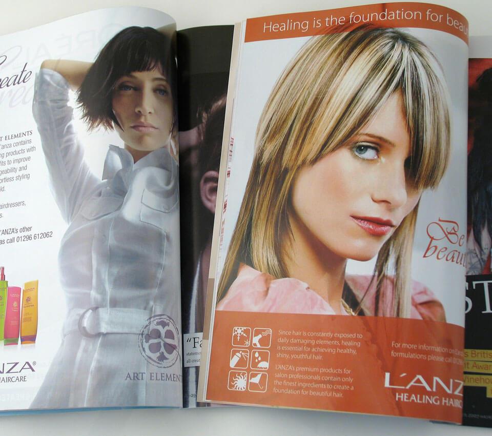 L'ANZA Healing Haircare ad design