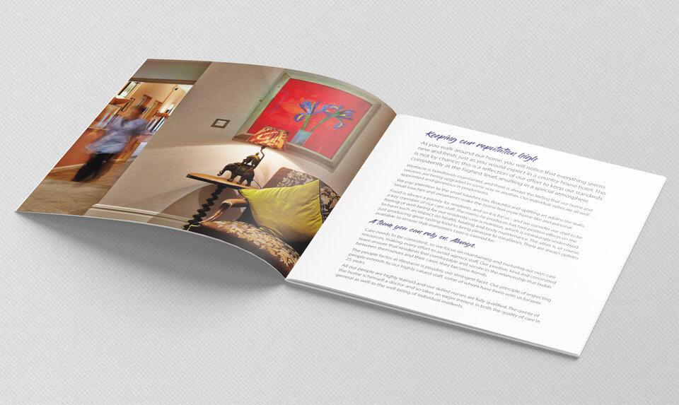 Westacre Nursing Home brochure spread