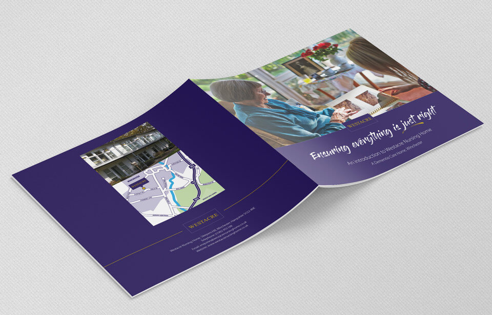 Westacre Nursing Home 210mm square brochure