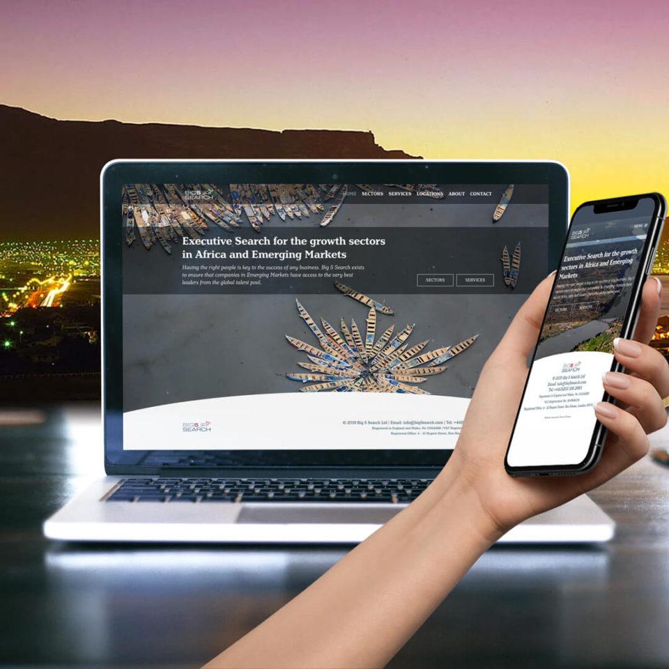Big 5 Search website design