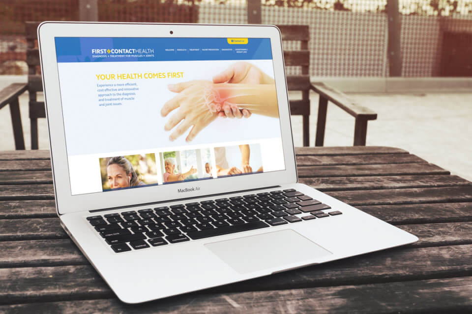 First Contact Health website design