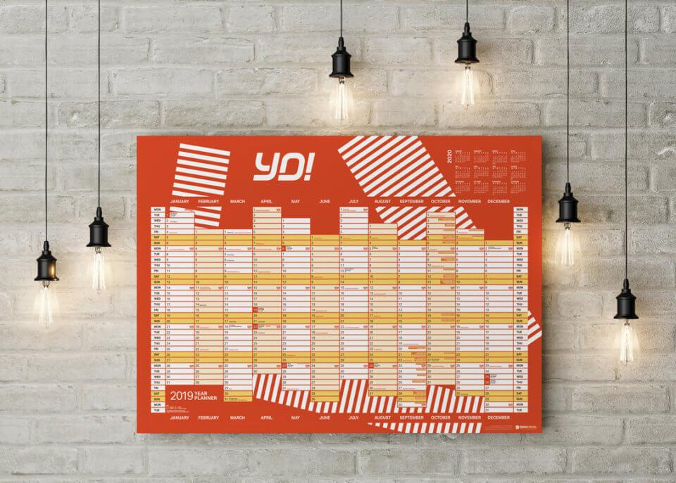 YO! Sushi Year Planner Design