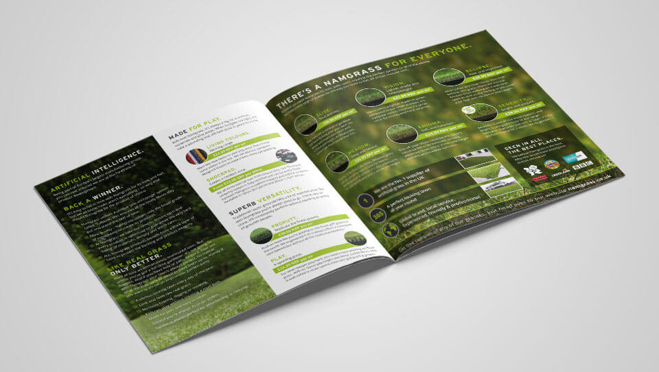 Namgrass Brochure Design Spread