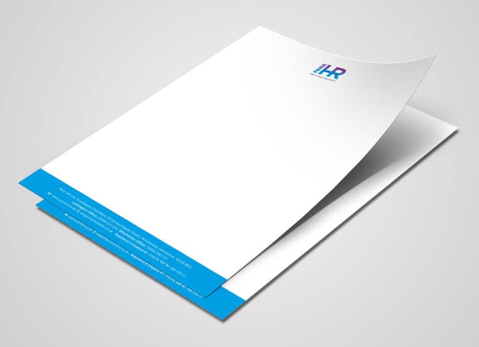 Park HR Letterhead Design