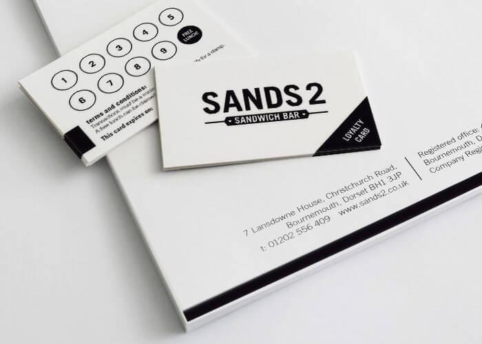 Sands2 Sandwich Bar Stationery