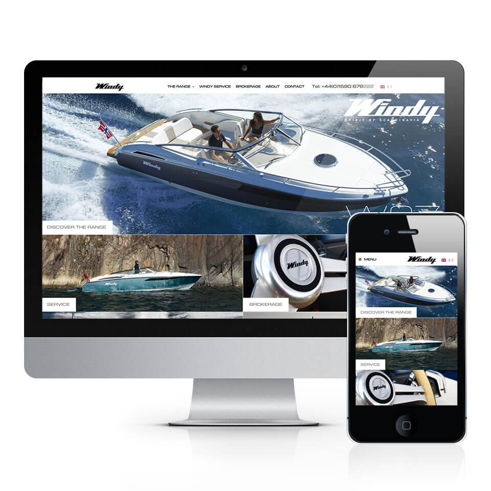 Windy Boats UK Website Home Page
