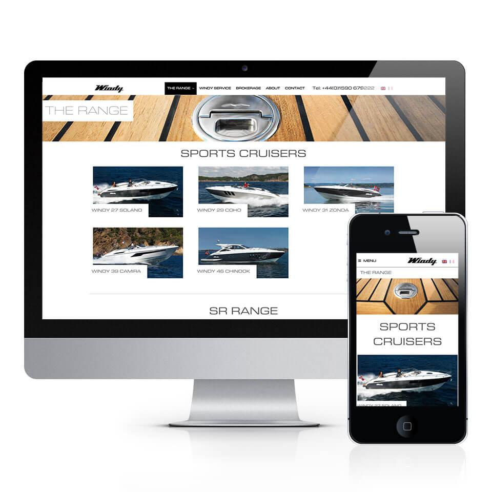 Windy Boats UK Website Design