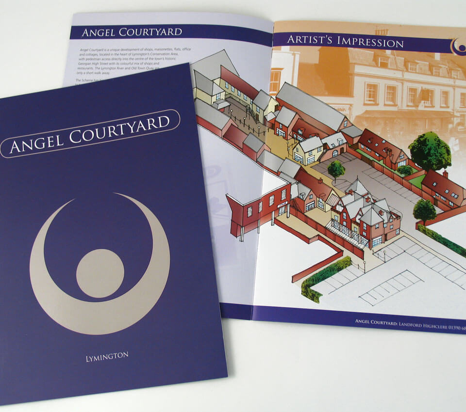 Angel Courtyard Brochure Design