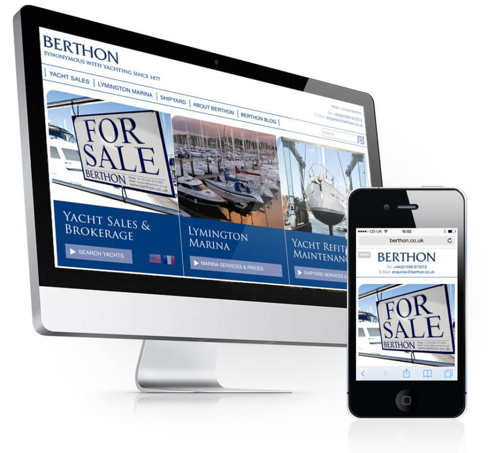 Berthon Website Home Page