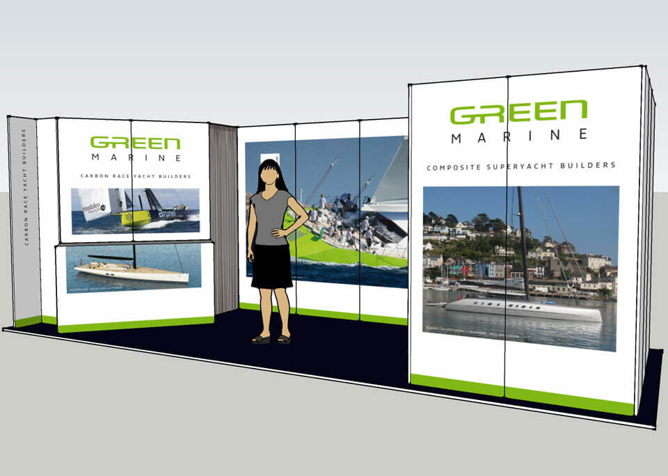 Green Marine Exhibition Stand 3D Visual