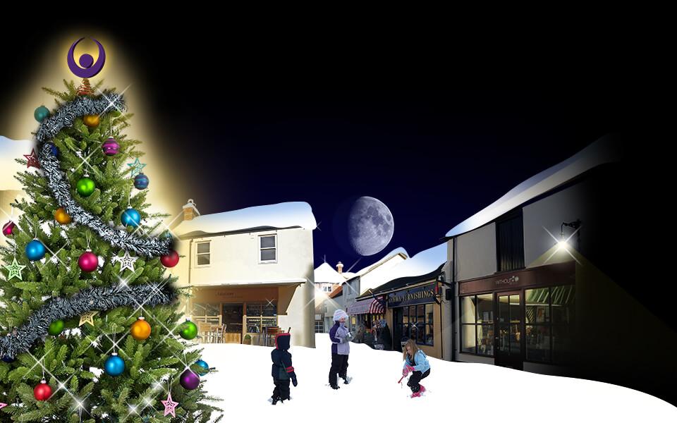 Angel Courtyard Christmas Ad Image Development 05