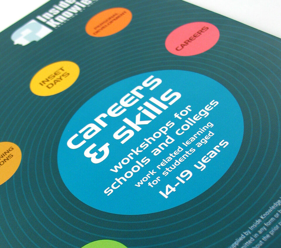 Inside Knowledge brochure design