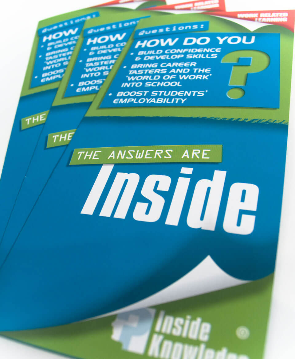 Inside Knowledge leaflet design