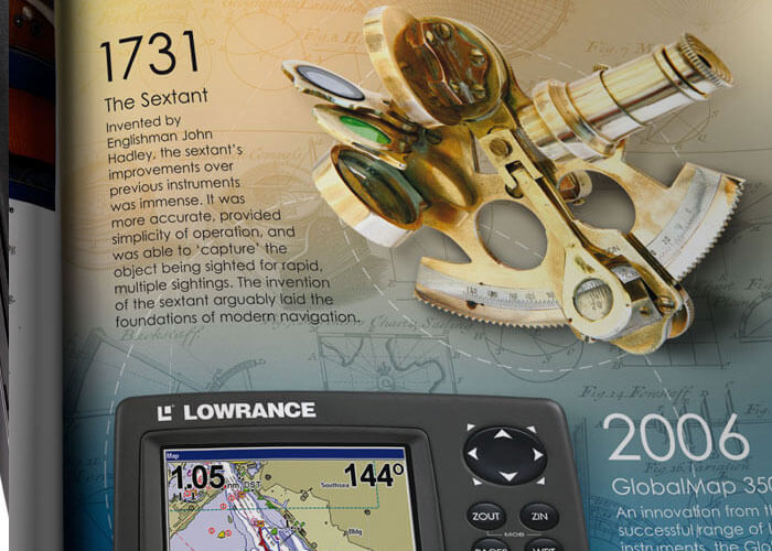 Ad design for Lowrance