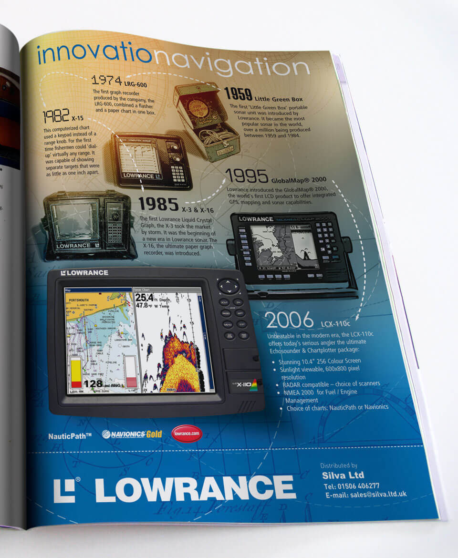 Lowrance ad design - innovationavigation