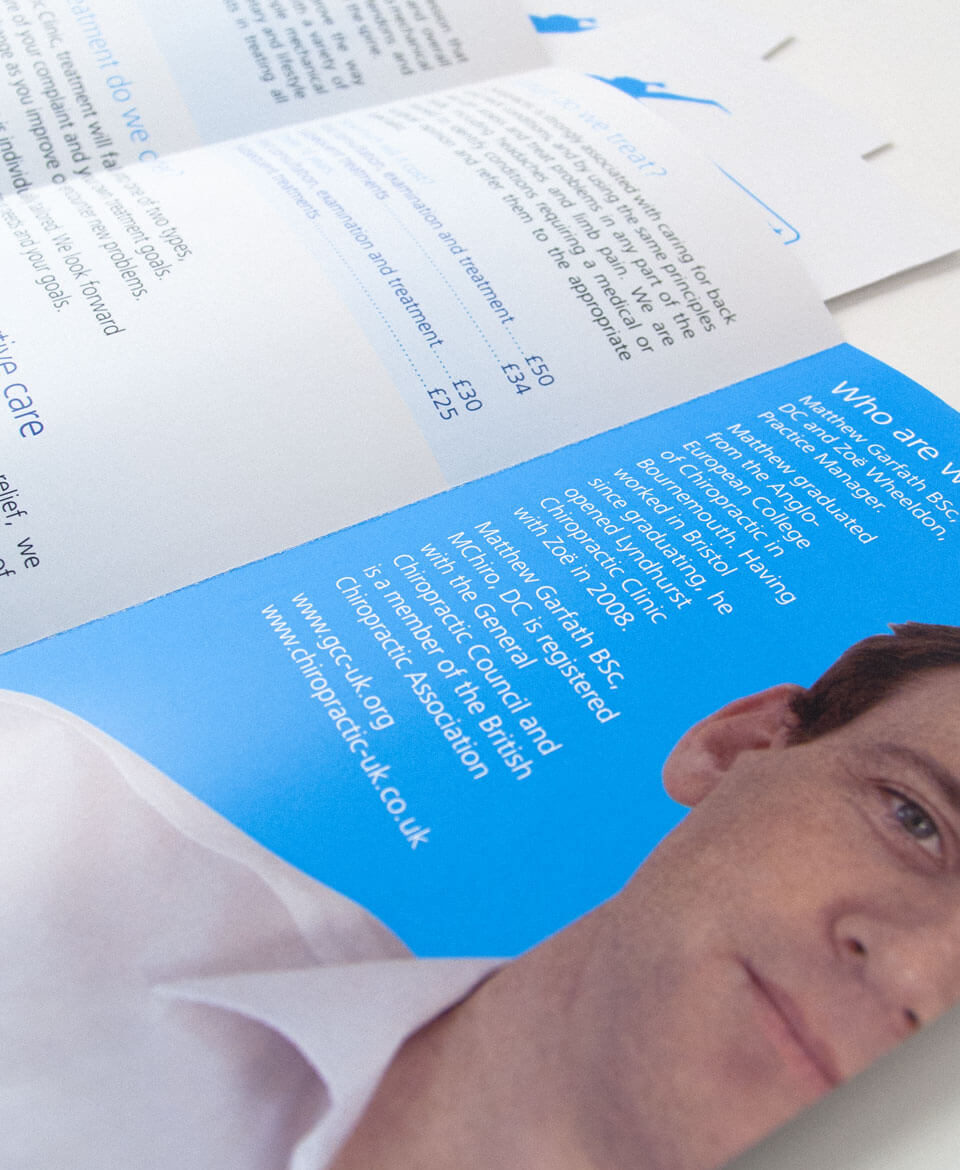 Lyndhurst Chiropractic Clinic leaflet design