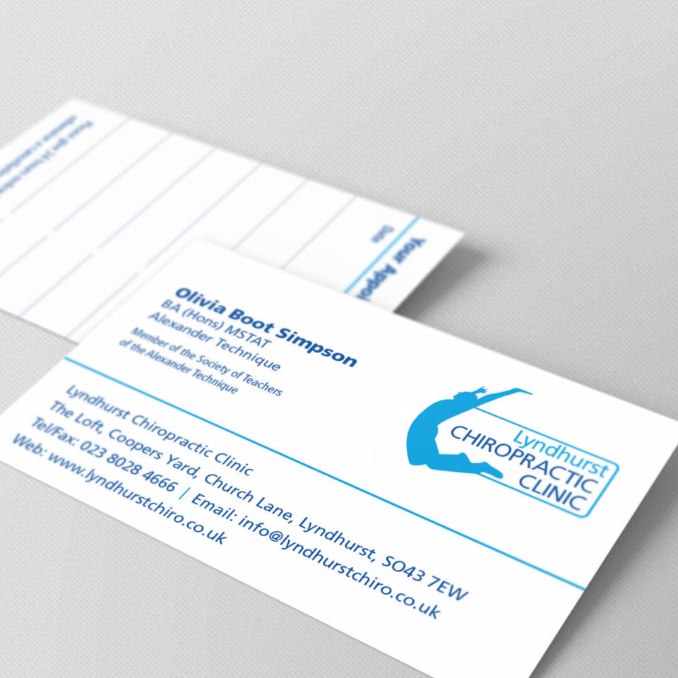 Lyndhurst Chiropractic Clinic business card design