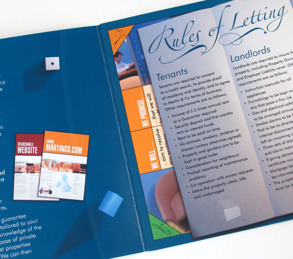 Martin & Co Letting Agents landlord brochure design