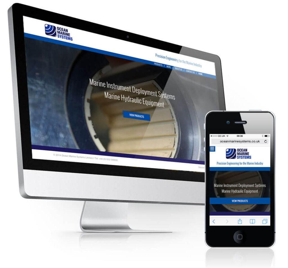 Ocean Marine Systems (OMS) website design
